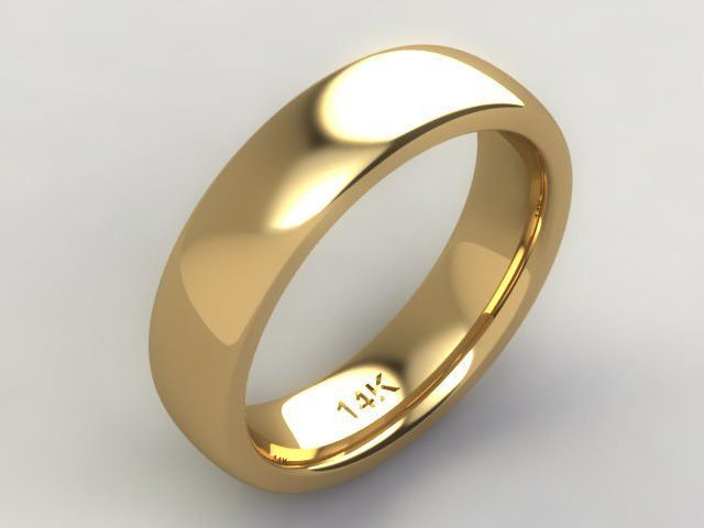 Custom Hand Crafted Classic 14k Yellow Gold Stylish Men S Wedding Band 6mm Wide Mens Gold Wedding Band Titanium Wedding Rings Mens Wedding Rings