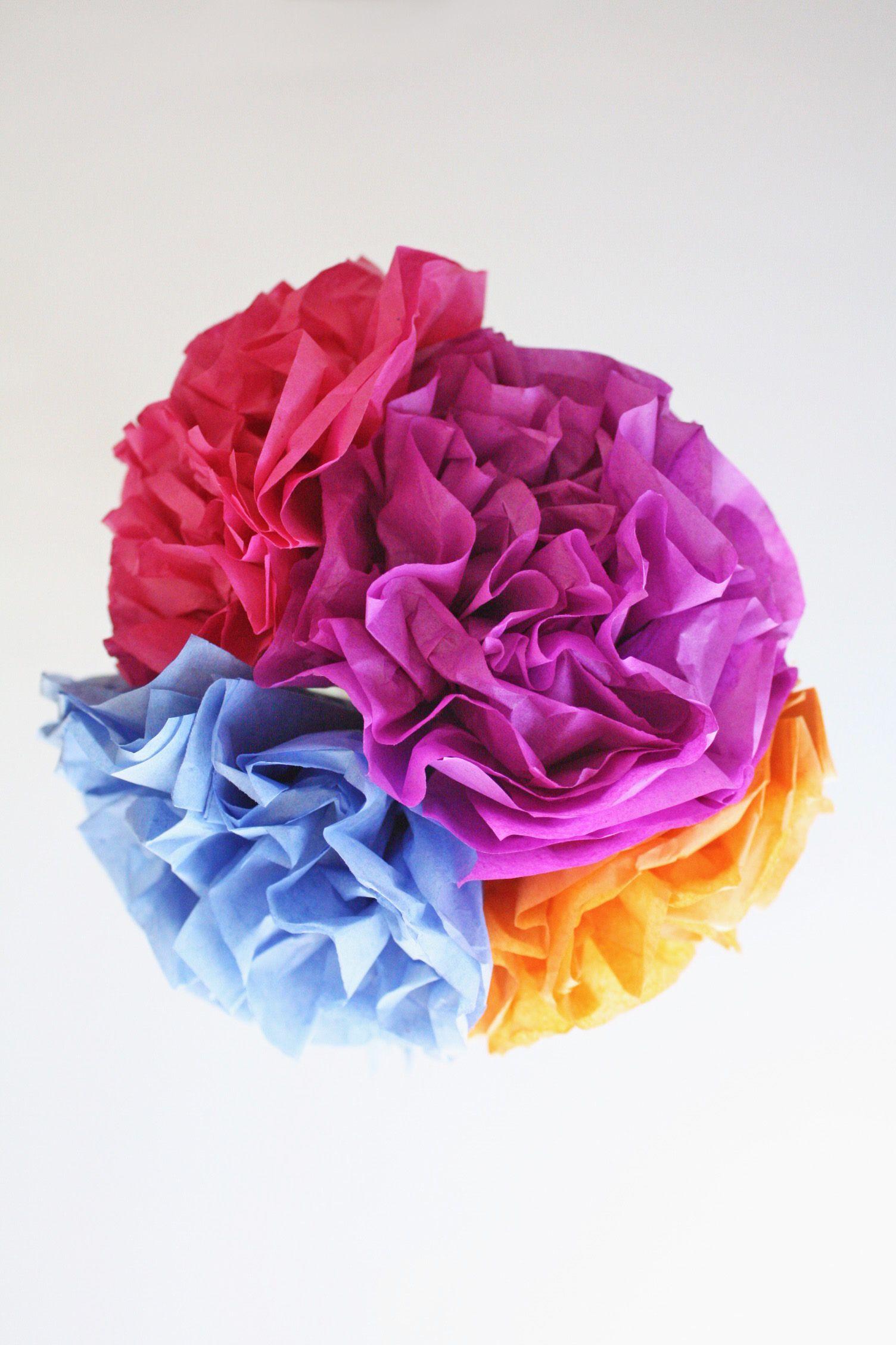 Modern flower bouquet tissue paper and washi tape ella and annie tissue paper flowers izmirmasajfo