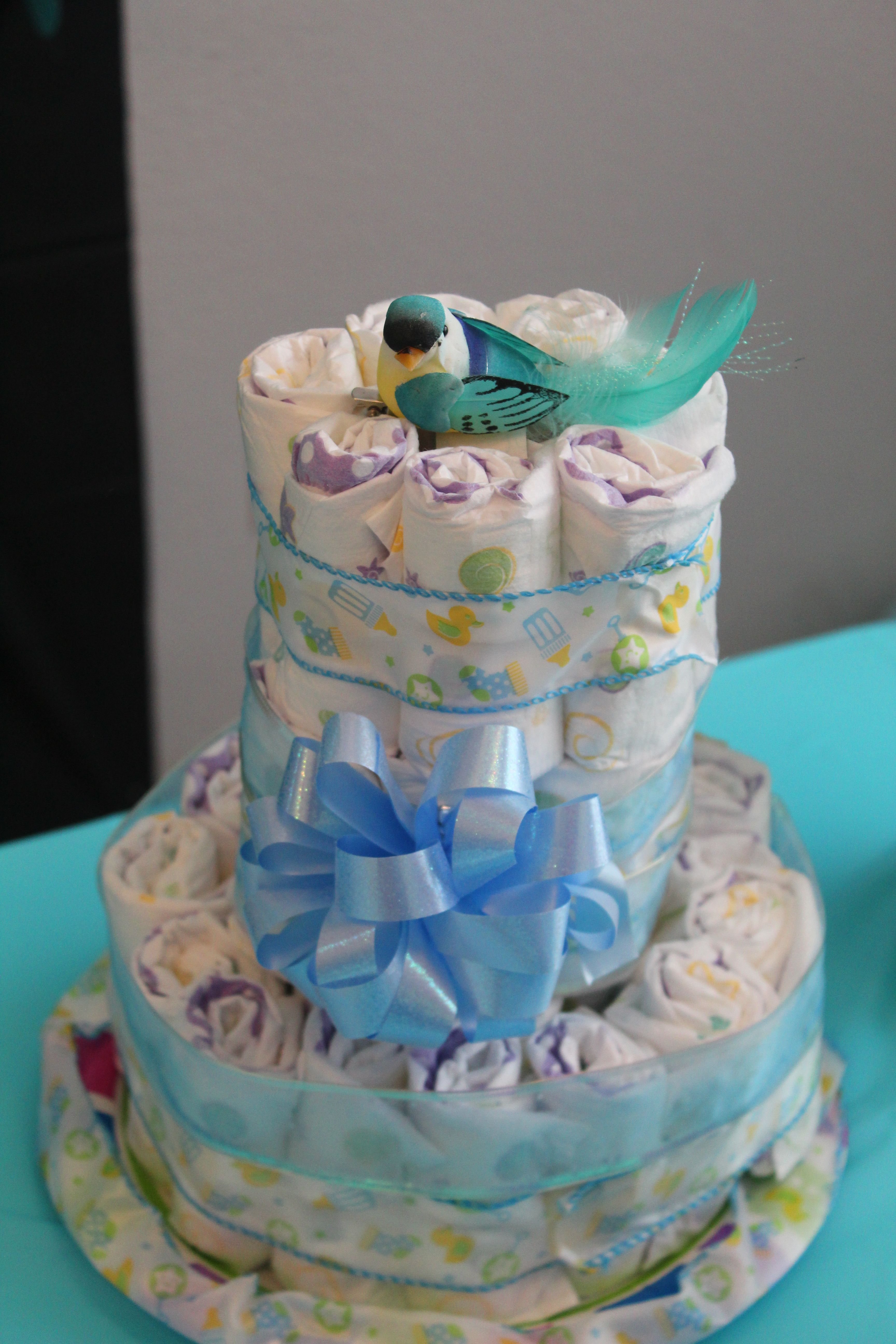 Very Easy To Make Diy Baby Boy Themed Diaper Cake