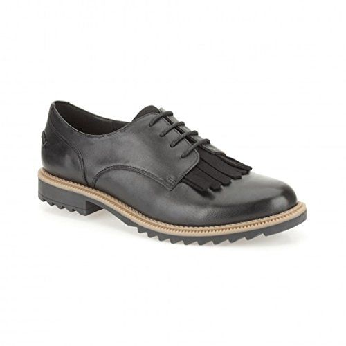 Clarks Griffin Mabel 26101099 Womens black Leather Lace Ups 39 EU (7.5 M US  Women