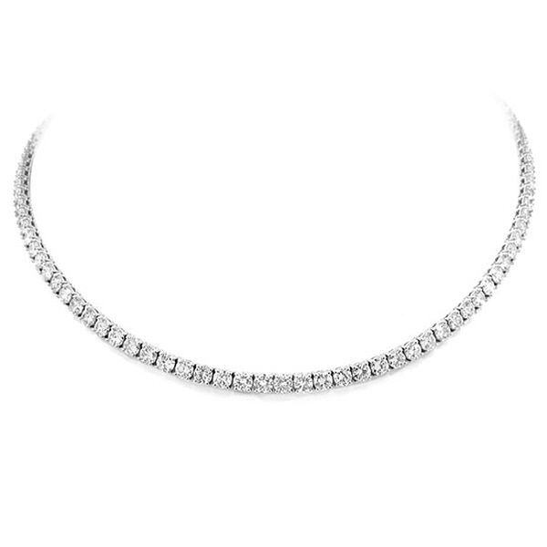 Photo of 19.12ct 18k White Gold Diamond Tennis Necklace – jewelry/accessoires