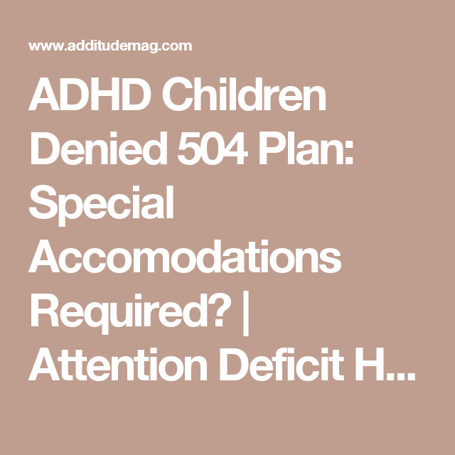 Pin on ADHD, Anxiety & 504 Plans