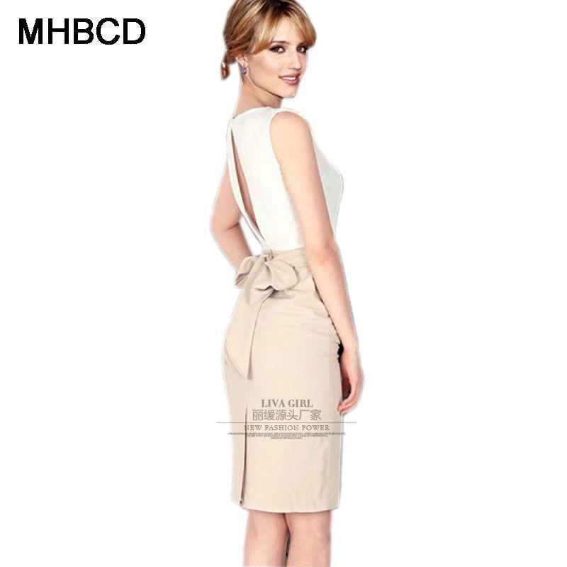 MHBCD Women Sleeveless Sashes Summer Dresses Business Office O Neck Plus  Size Dress Ukraine Fashion Club Clothes 83c4ca3eda4a