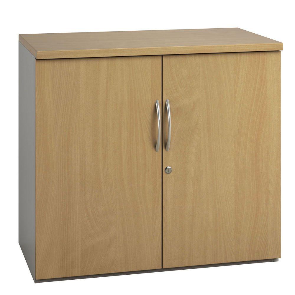 Best Eco Low Cupboard Beech Walnut White Finish Filing 400 x 300