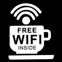 Ideal for Pubs//Shop//Hotel//Cafe//Restaurant//Window FREE Wi-Fi//WiFi Sticker//Sign