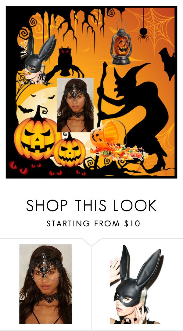 """""""%%Happy Hallowen%%"""" by deyanafashion ❤ liked on Polyvore featuring Leg Avenue and John Lewis"""
