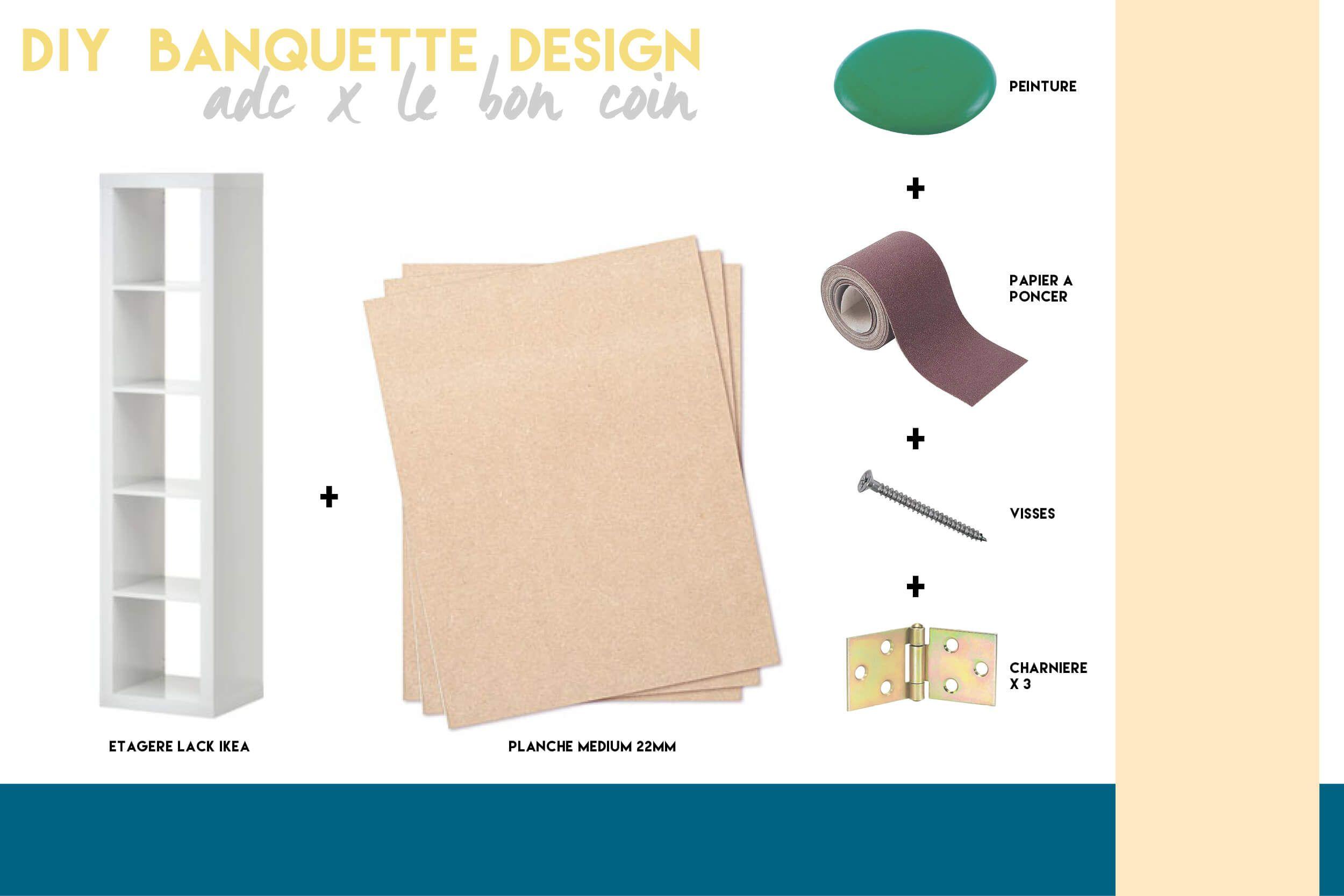 DIY banquette design ADC x Le Bon Coin | Banquette avec