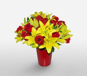 Red And Yellow Fl Arrangements