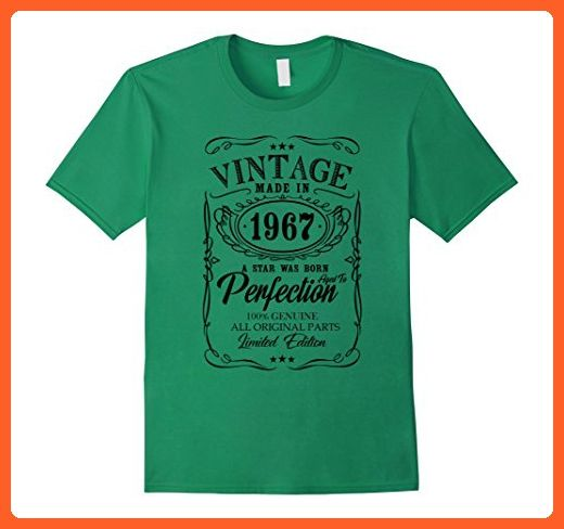 0594a8d31 Mens Vintage Limited 1967 Edition - 50th Birthday Gift 2XL Kelly Green - Birthday  shirts (*Partner-Link)