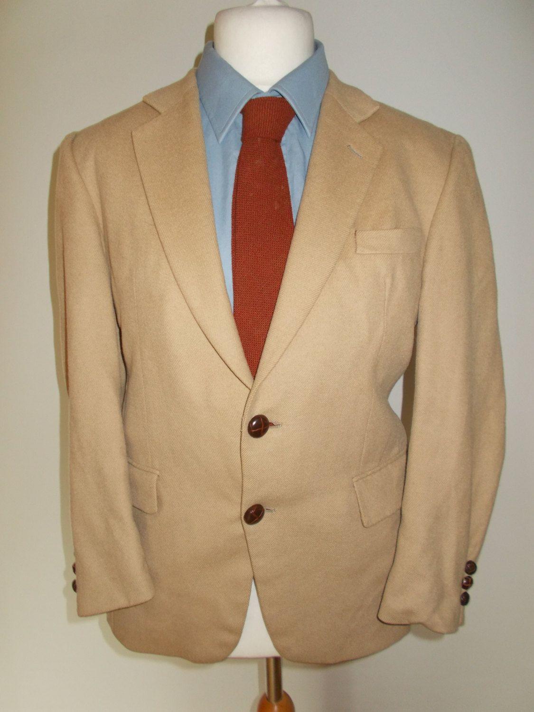 Vintage Crombie of Scotland wool camel hair jacket blazer for Burton 38