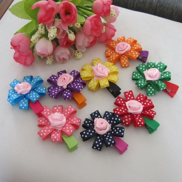 Fashion Baby Hair Clips Infant Girl Hair Flower Headwear Kid s Hair Accessories Mix Color #babyhairaccessories