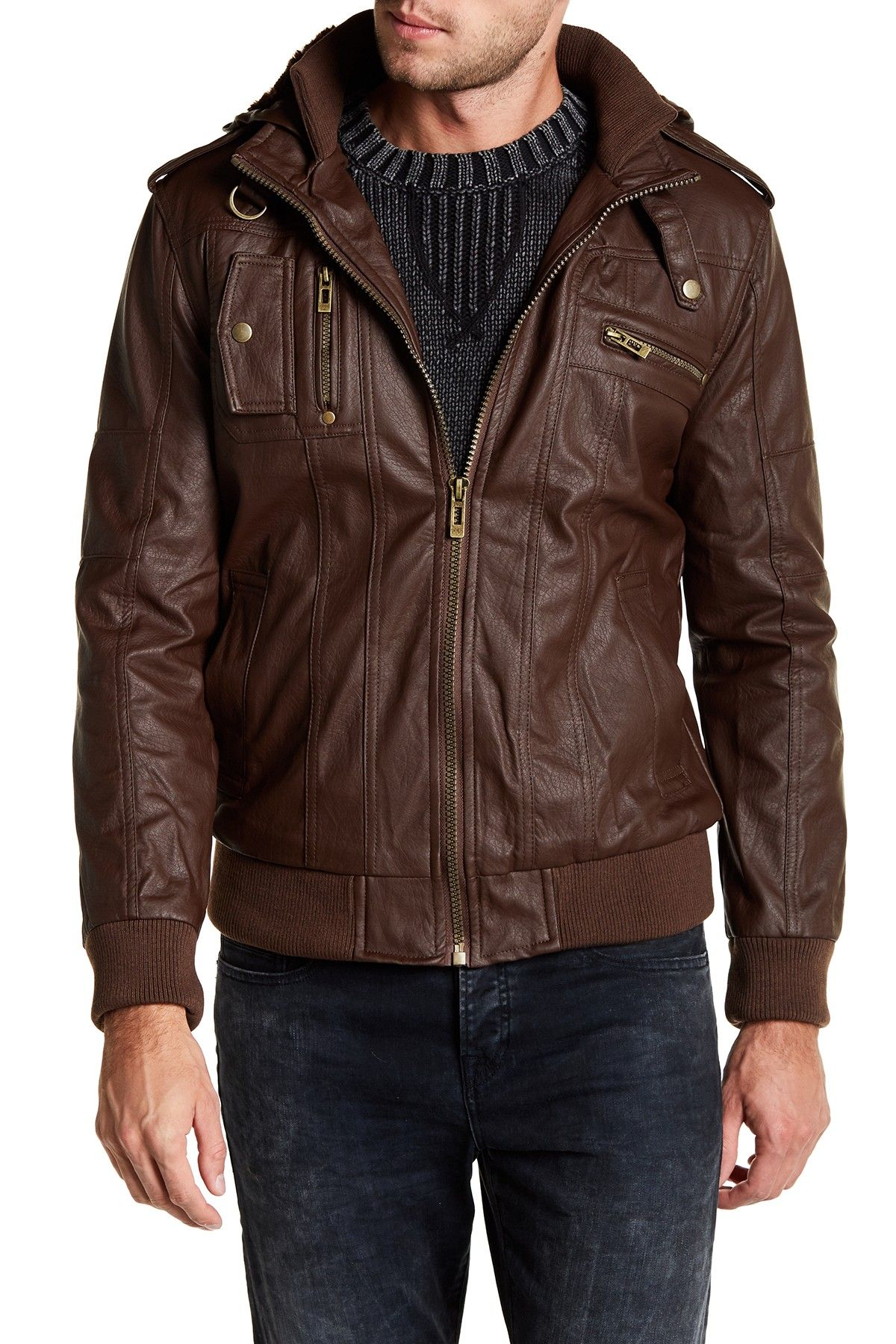Yoki Hooded Classic Biker Jacket Nordstrom Rack Biker Jacket Jackets Mens Fashion Suits [ 1800 x 1200 Pixel ]