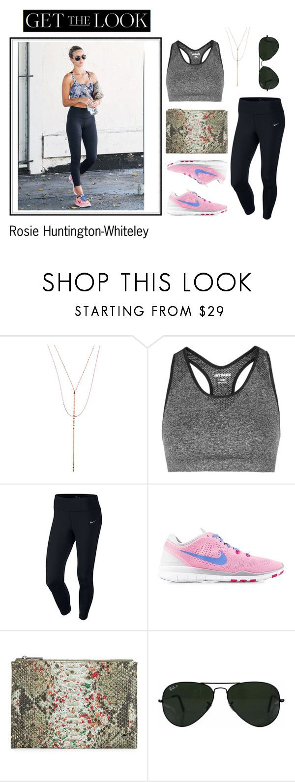 """""""Rosie Huntington-Whiteley"""" by marce104 ❤ liked on Polyvore featuring Lana, Topshop, NIKE, Neiman Marcus and Ray-Ban"""