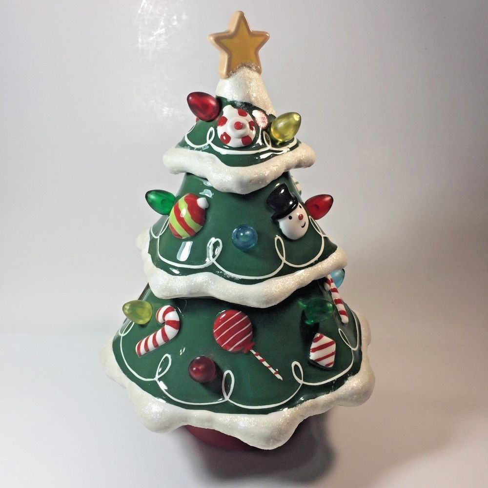 hallmark ceramic christmas tree musical light up rotating see video hallmark