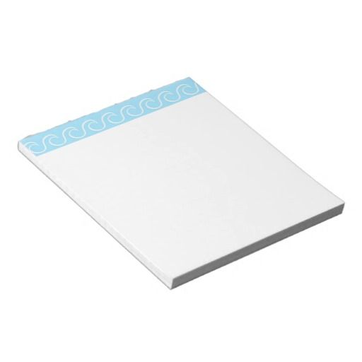 Simple Blue Waves Scratch Pad