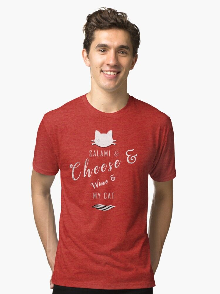 Salami and Cheese and Wine and My Cat Cute Funny List This funny design is for people who like to e