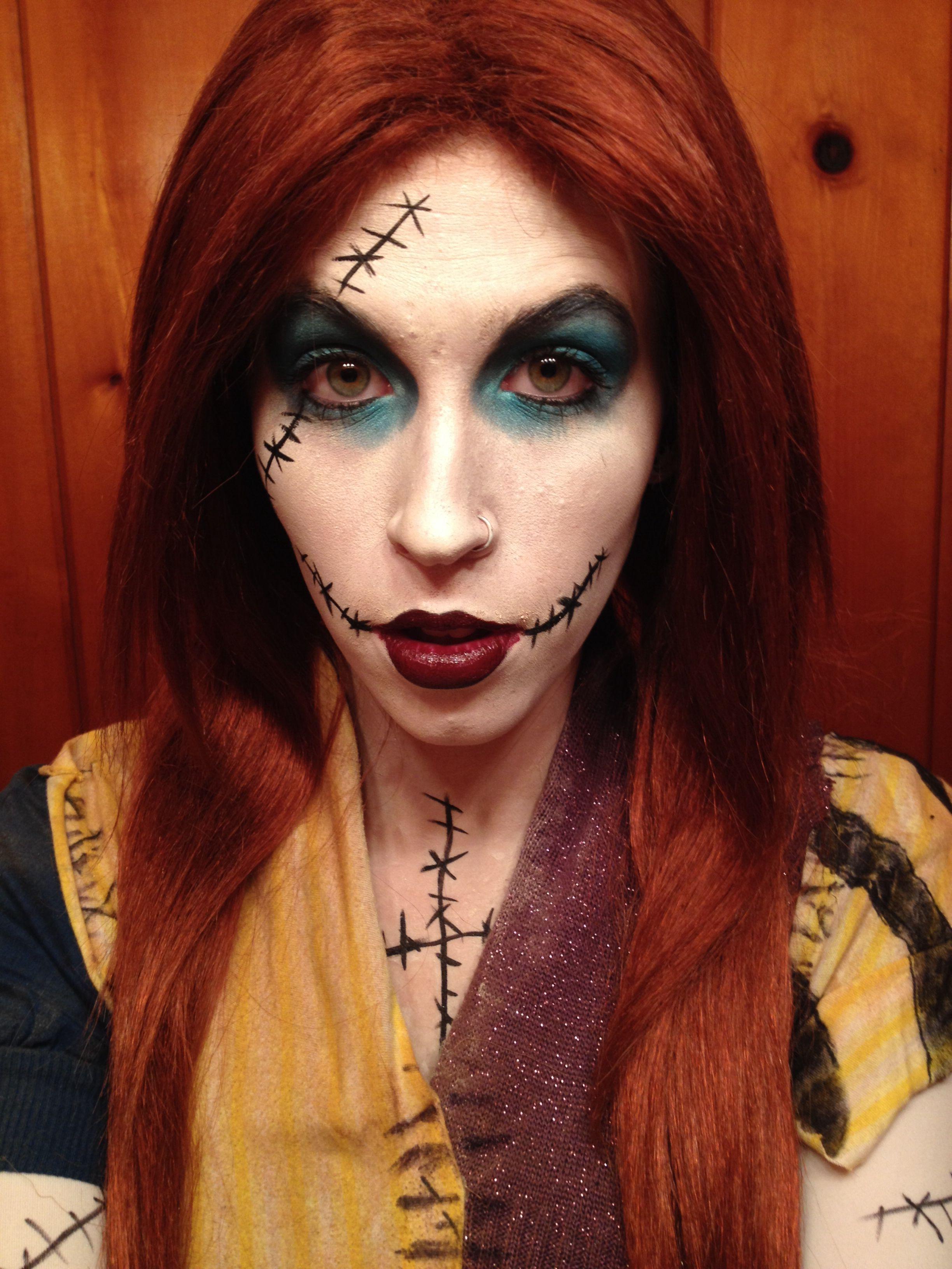 Sally Nightmare Before Christmas makeup Halloween makeup