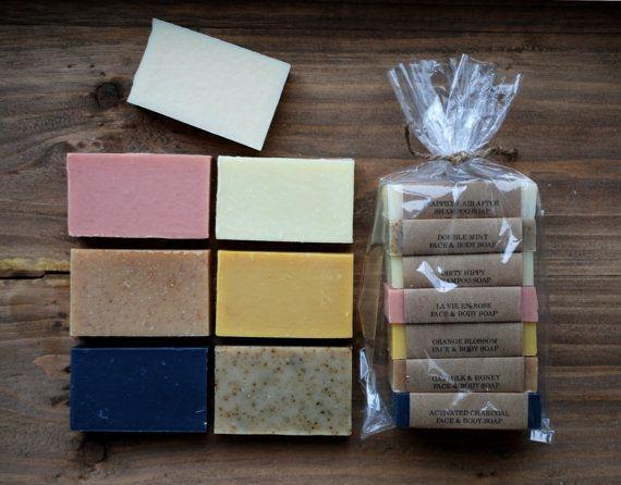 Anita's La La Land Soaps | Lucky 7 Mini Soap Sample Gift Set - Cold Process Soap, Mix and Match, You Choose the Scent
