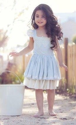 84f378a6c6c One Good Thread - Cream and Sugar Powder Blue Mini Dress by Dollcake Oh So  Girly