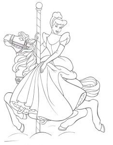disney rides coloring pages | Princess Cinderella Ride Horse Coloring Pages | Cinderella ...