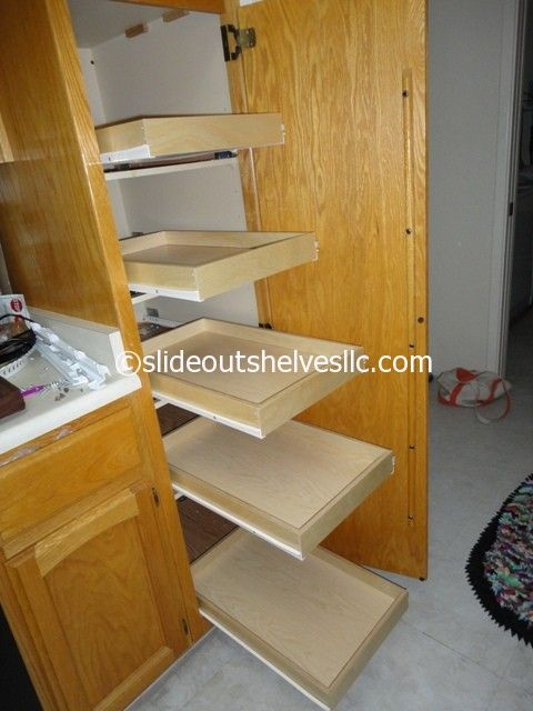 Pin by Slide Out Shelves LLC on Pull Out Pantry Shelves ...