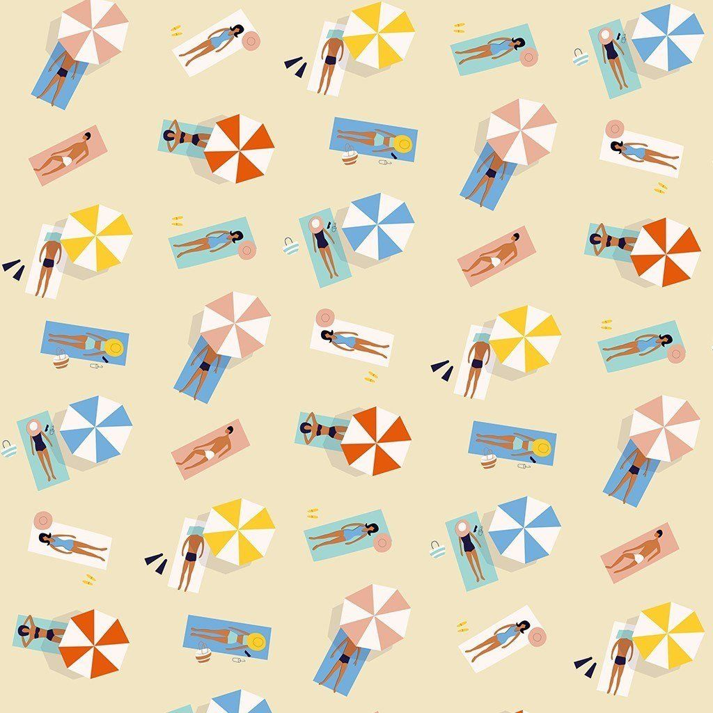 Sunbathers Gift Wrap Wrapping Paper Gift Wrapping Paper