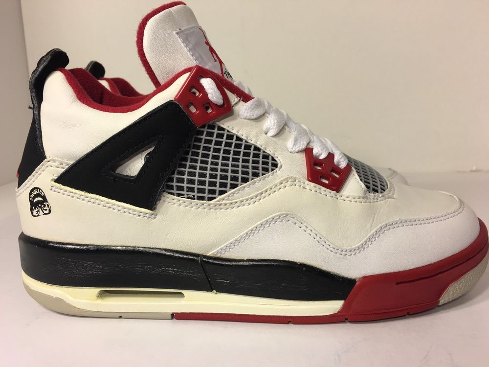 online store d7195 b234a Air Jordan Retro 4 GS Mars White Varsity Red Black 308498 162 Size 4 5Y