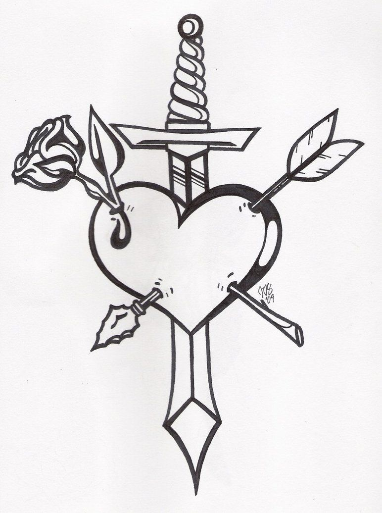 Sword Tattoos Google Search Heart Coloring Pages