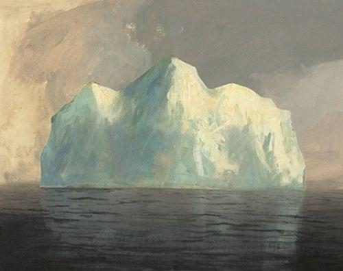 Iceberg Painting By Jeremy Miranda Colorful Landscape New Art