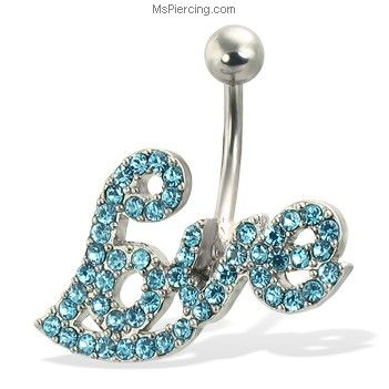 MsPiercing Love Navel Ring