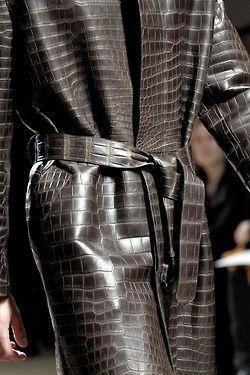 Hermes Crocodile Coat