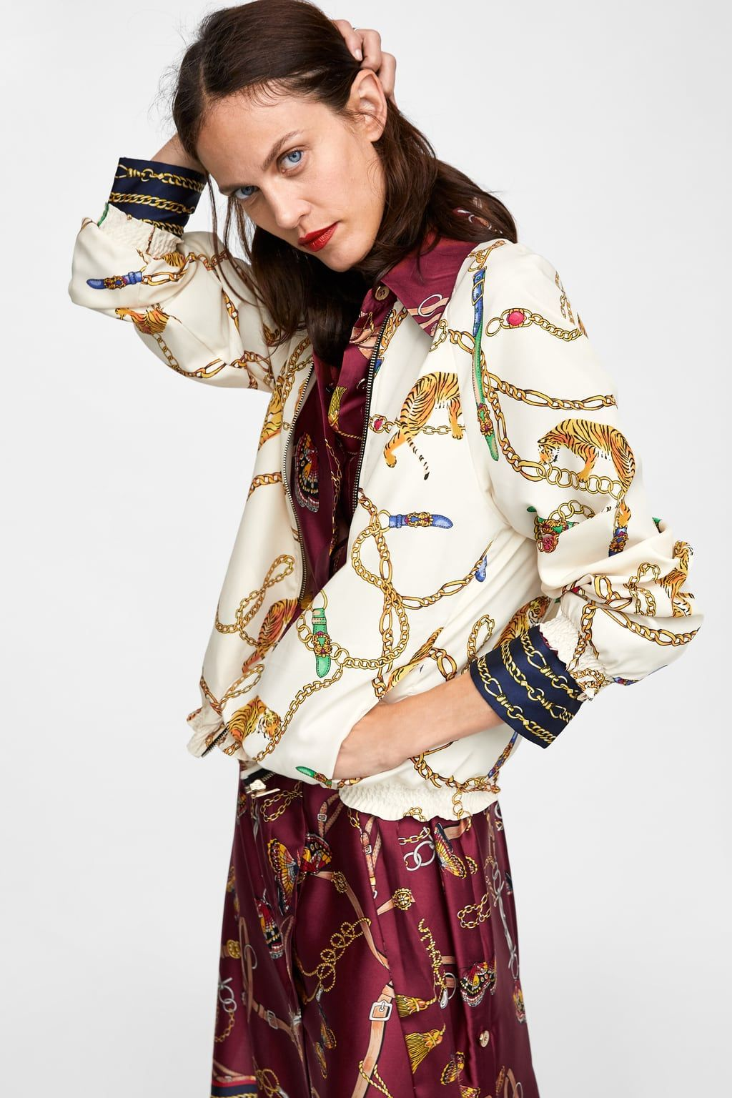 0e68a36c5 CHAIN PRINT BOMBER | Fall Winter 2018/2019 in 2019 | Printed bomber ...