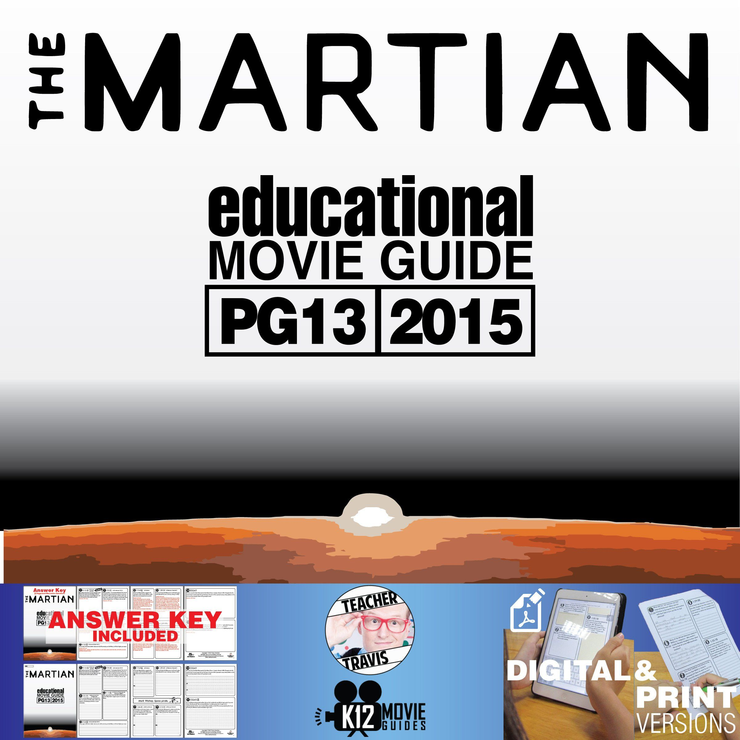 The Martian Movie Worksheet The Martian Movie Guide