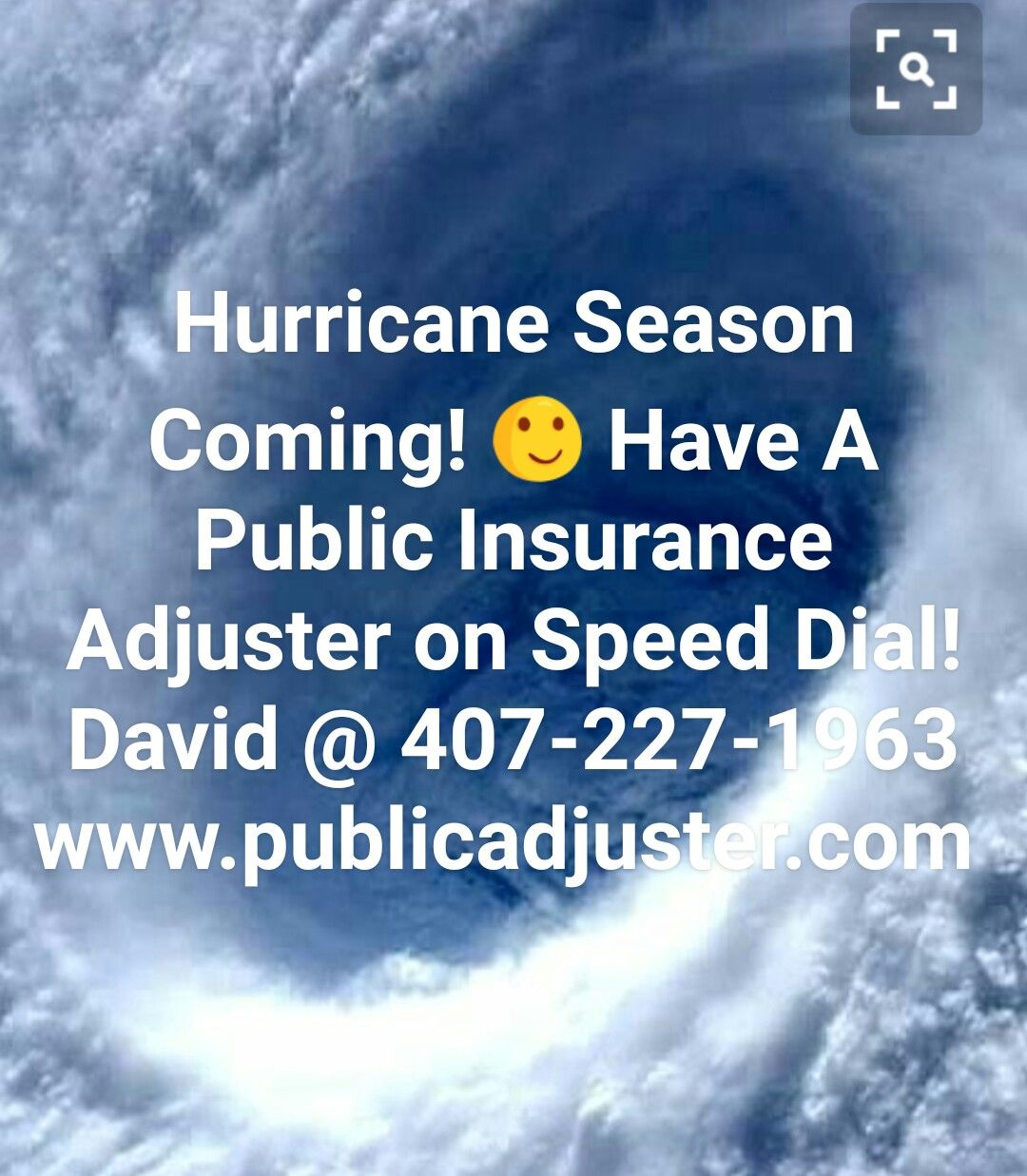David Dwyer State Licensed Public Insurance Adjuster  407-227-1963 www.publicadjuster.com  #hurricane #hurricaneclaim