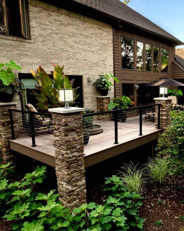 50 Awesome Deck Railing Ideas For Your Home Outdoor Living Deck Lake Houses Exterior Patio Deck Designs