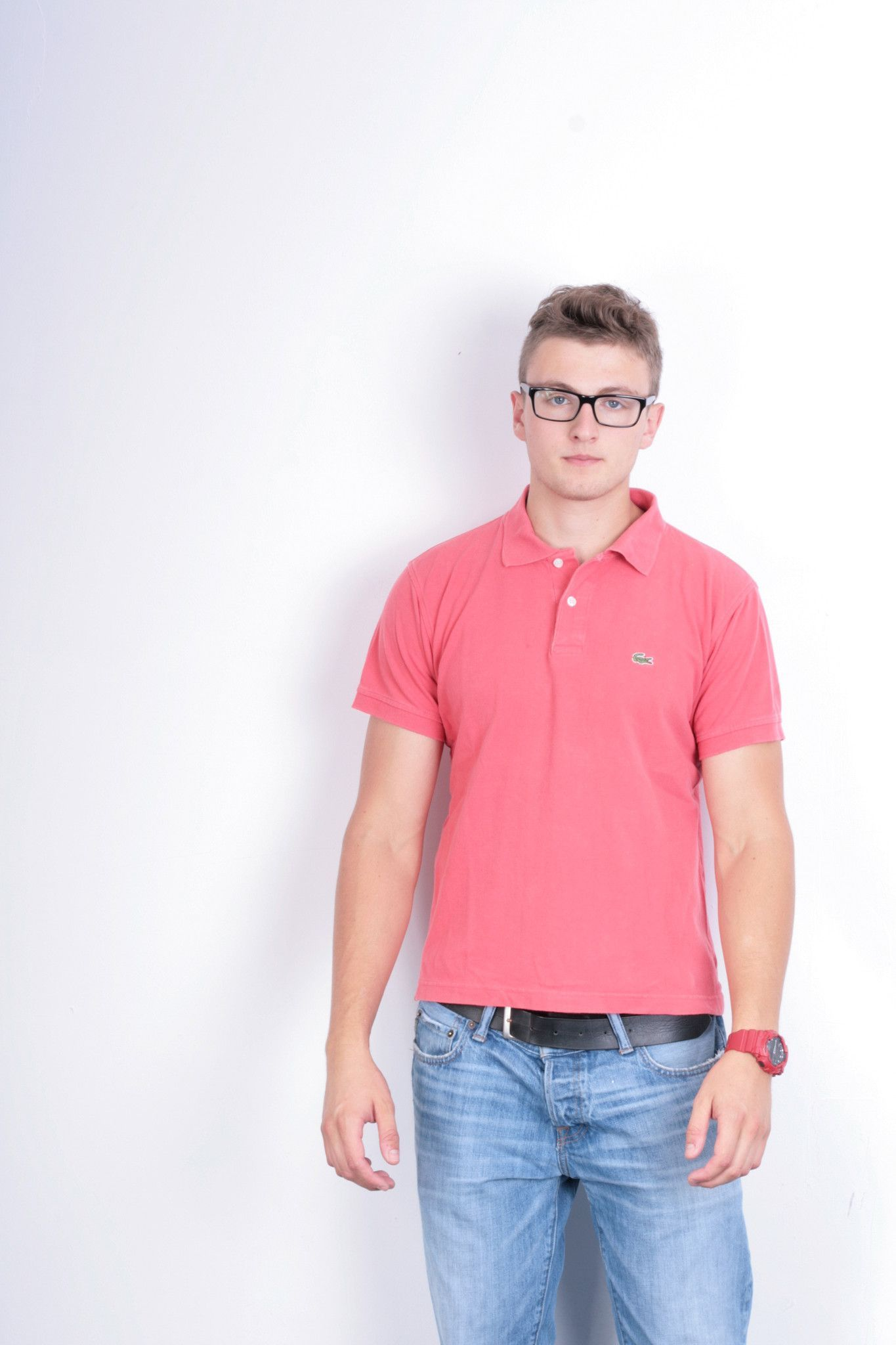 Lacoste Mens 5 XL Polo Shirt Pink Summer Short Sleeve Cotton ...