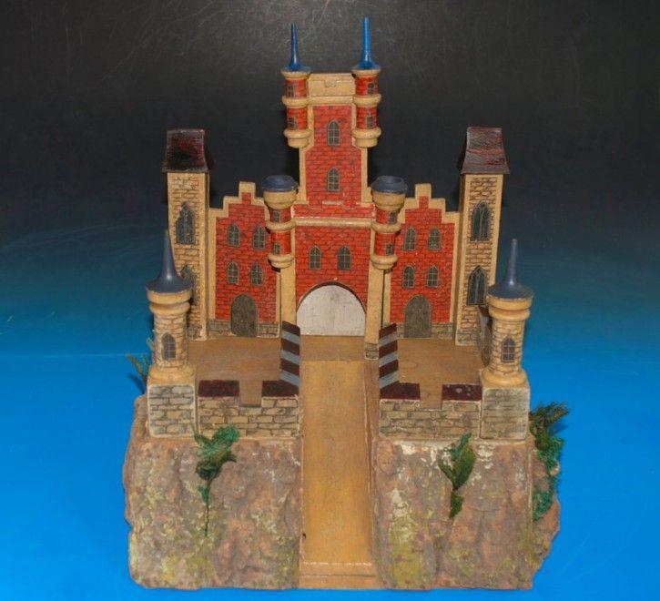 ausgefallene Moritz Gottschalk Burg Anlage Papier beklebt * um 1900