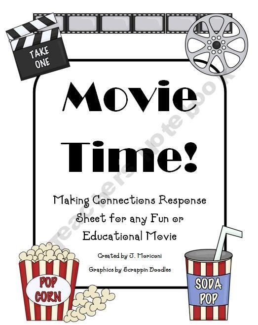 Movie Time Writing Response Sheet