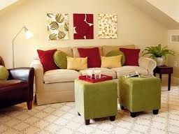This Is An Accented Neutral Bedroom Because It Mostly A Cream Color With Red