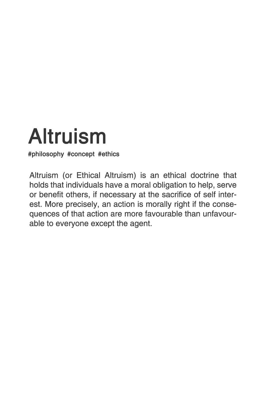 altruism. #typography #typographyposter #philosophy | common