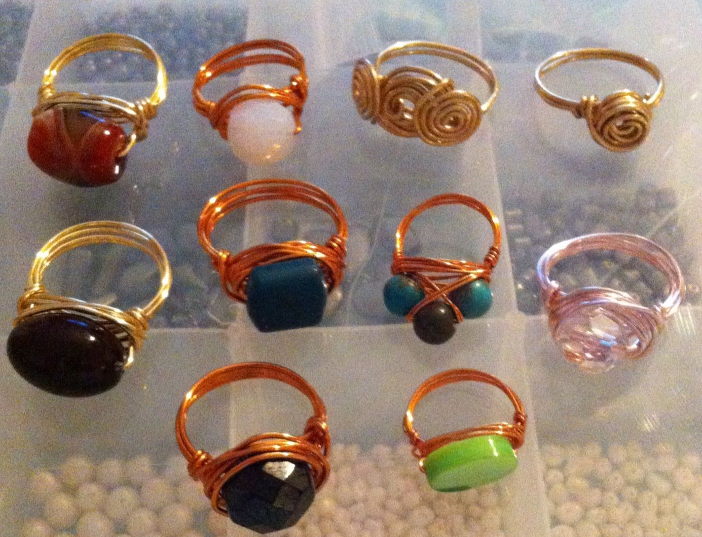 Wire wrapped copper, gold and rose gold plated anti tarnish wires