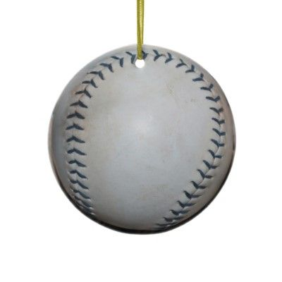 baseball christmas ornament by picturethisandthat