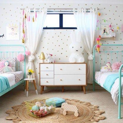 Shared bedroom ideas for girls   barnrum   kinderkamer   kids interiors and bedroom design