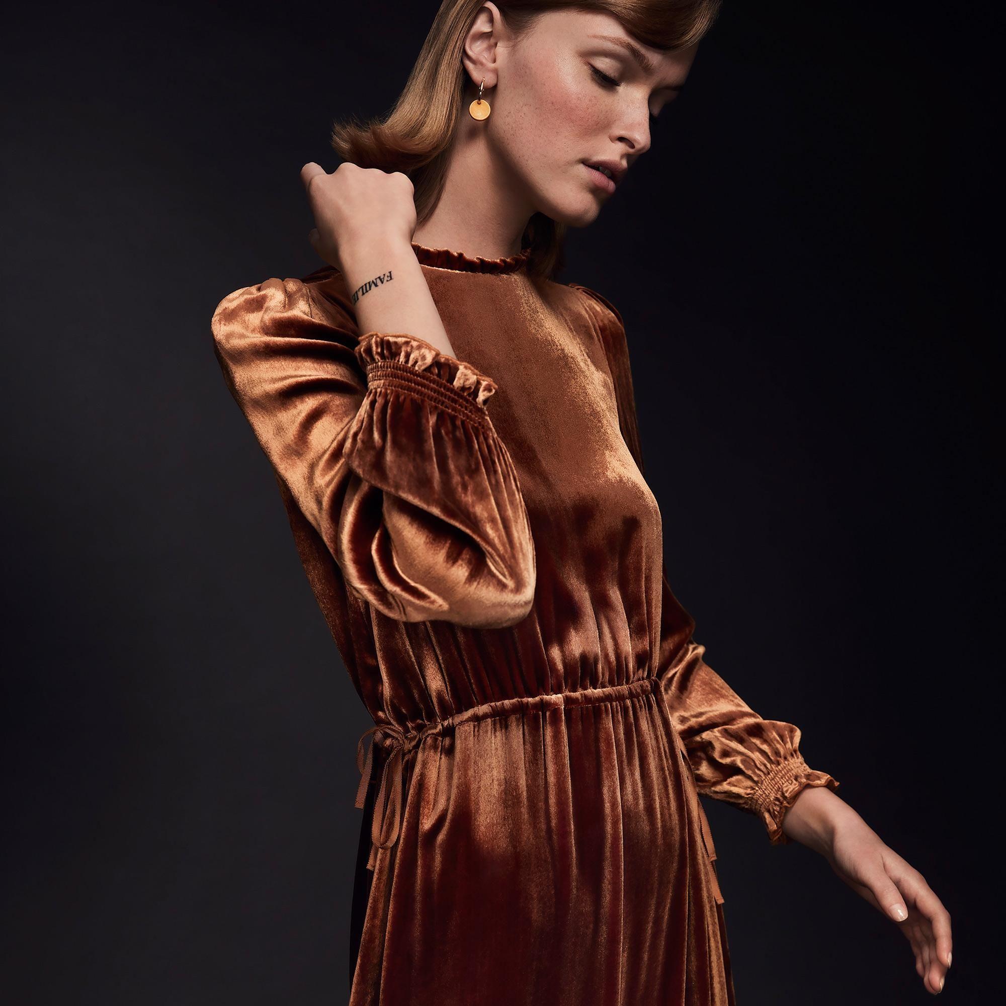 ca50015c9d Noemi Rust Velvet Dress from L.K.Bennett