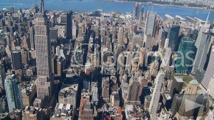 Check out this Aerial Manhattan New York City HD Stock Footage Clip. Mixed-other shot made at day. Extreme wide. 2009-11-20, UNITED STATES.