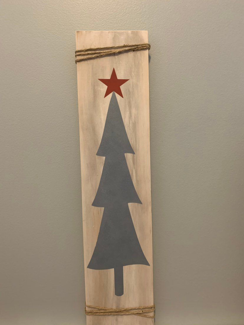 Rustic Christmas Tree-Painted wood sign | Christmas signs ...