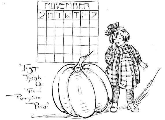 November calendar pumpkin pies http://thecommonroomblog