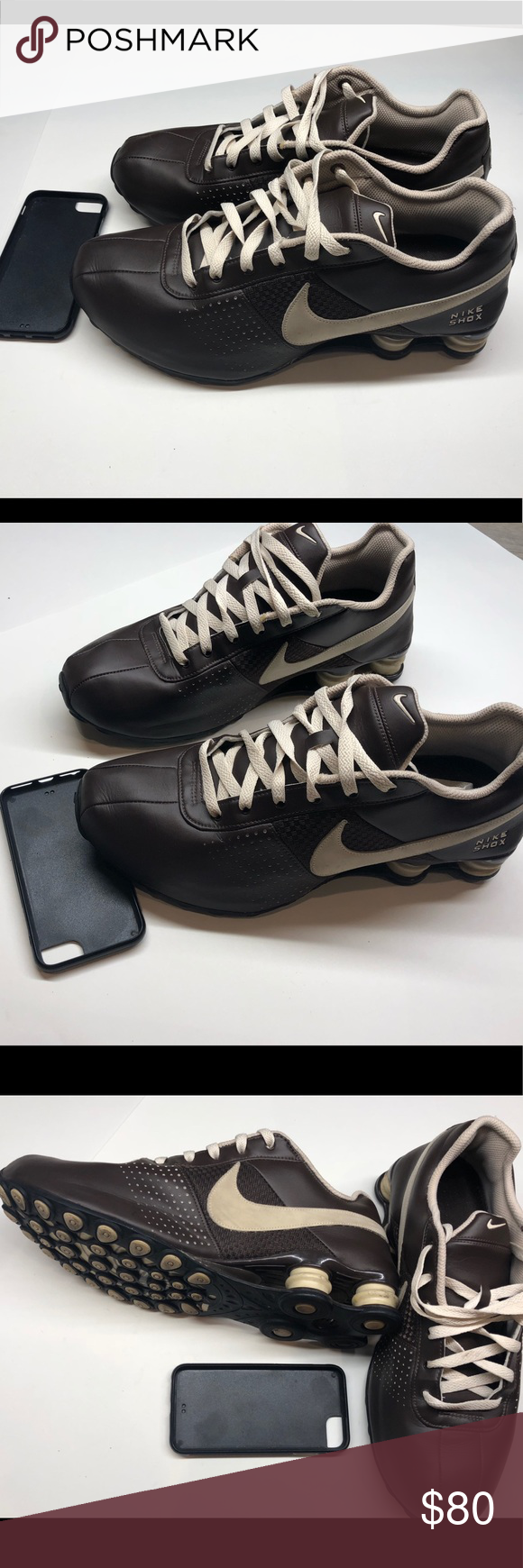 san francisco d7d09 bd9dd Rare Nike Shox Brown and Tan, 10.5 Nike Shox Deliver Chocolate brown with  tan