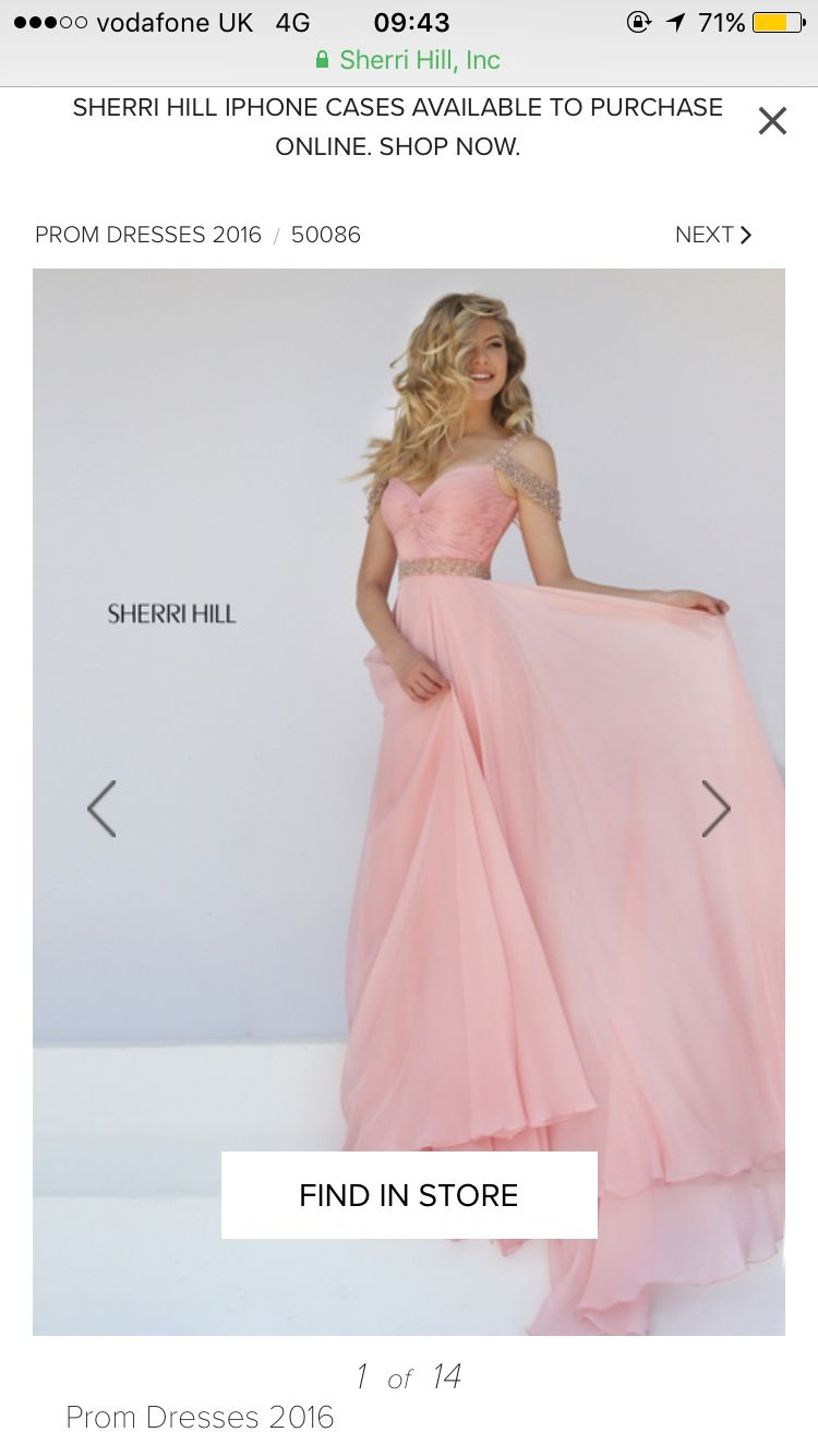 Pink dress in store  Sherry hill prom soft pink dress long    Pinterest  Soft pink
