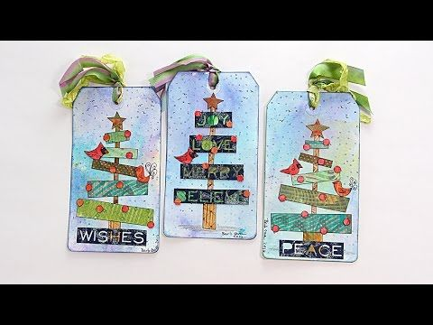 Mixed-Media Holiday Tags with Barb Owen - HowToGetCreative.com - YouTube